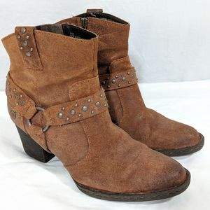 Born Suede Western Harness Boots
